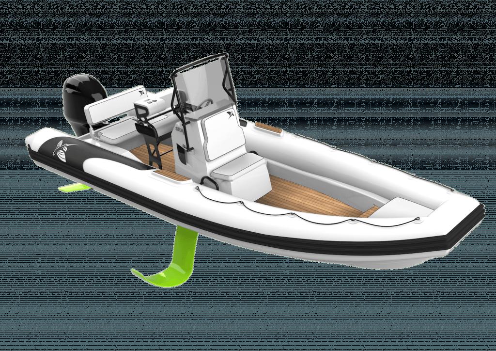 Illustration d'un bateau à moteur volant SEAir