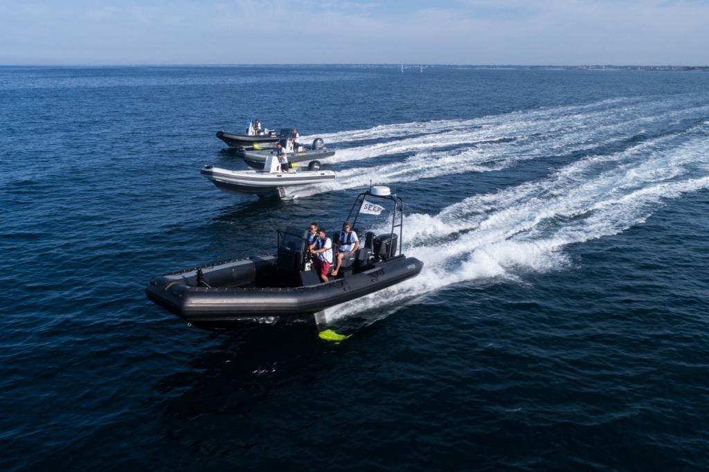 Sortie en mer des différents bateaux customisés par SEAir : Zodiac Bénéteau Sillinger