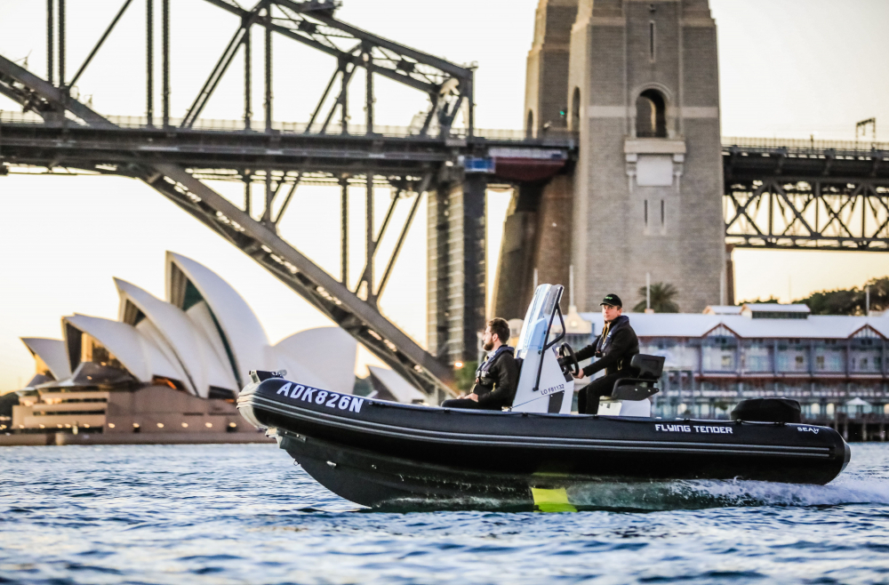 Flying Tender SEAir dans la baie de Sydney