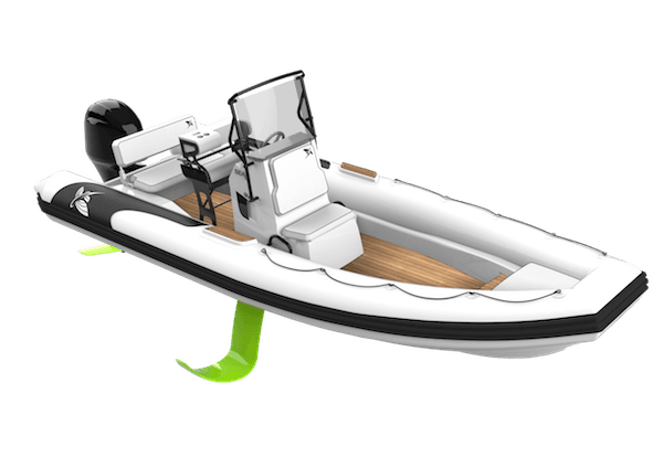 3D illustration of a luxury 7.65m Flying Tender by Nathalie Ryan